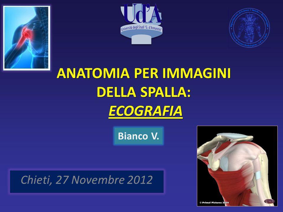 ANATOMIA PER IMMAGINI DELLA SPALLA: ECOGRAFIA Chieti, 27 Novembre 2012 Bianco V.