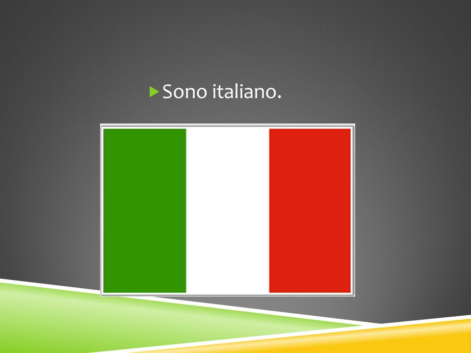 Vengo da Firenze.