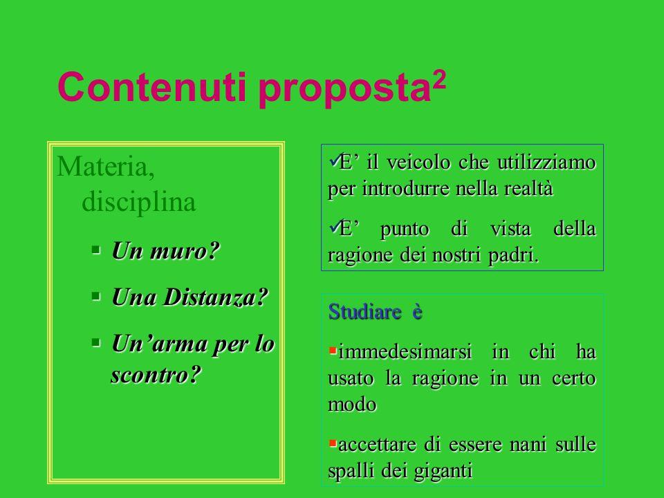 2- Lo studio è una proposta. Contenuti proposta 1 Applicazione da ad-plicari, indica il piegarsi in modo da aderire aderire a… Quali caratteristiche?