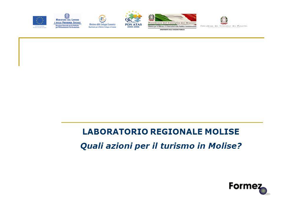 1 LABORATORIO REGIONALE MOLISE Quali azioni per il turismo in Molise?