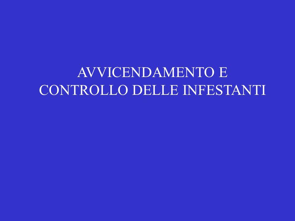 AVVICENDAMENTO E CONTROLLO DELLE INFESTANTI