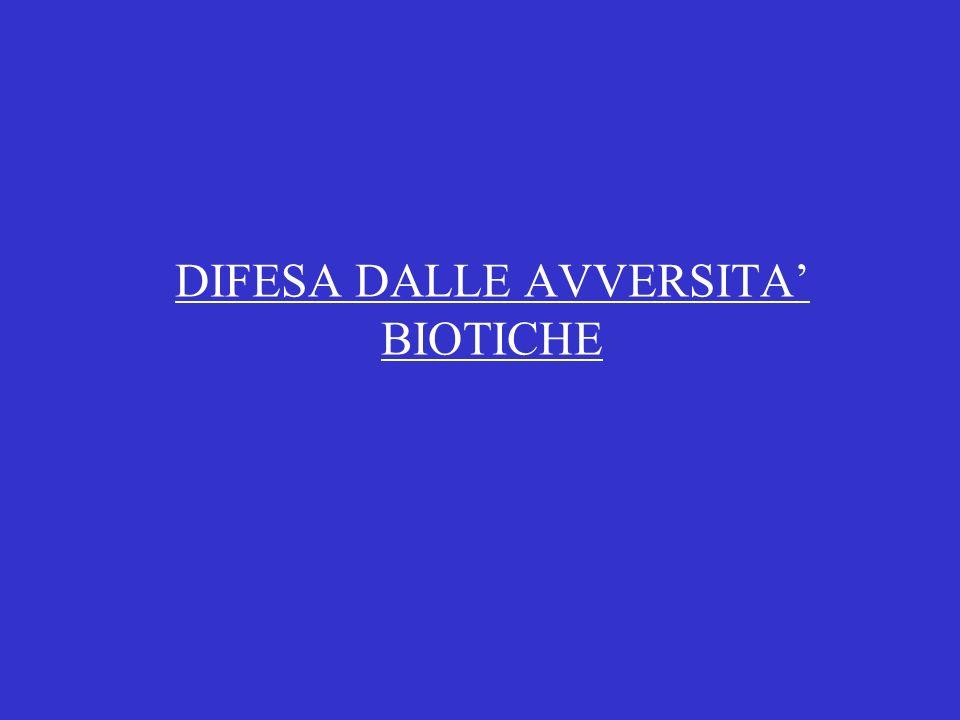 DIFESA DALLE AVVERSITA BIOTICHE