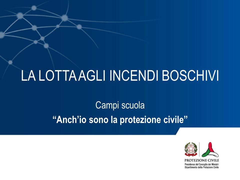 LA LOTTA AGLI INCENDI BOSCHIVI Campi scuola Anchio sono la protezione civile