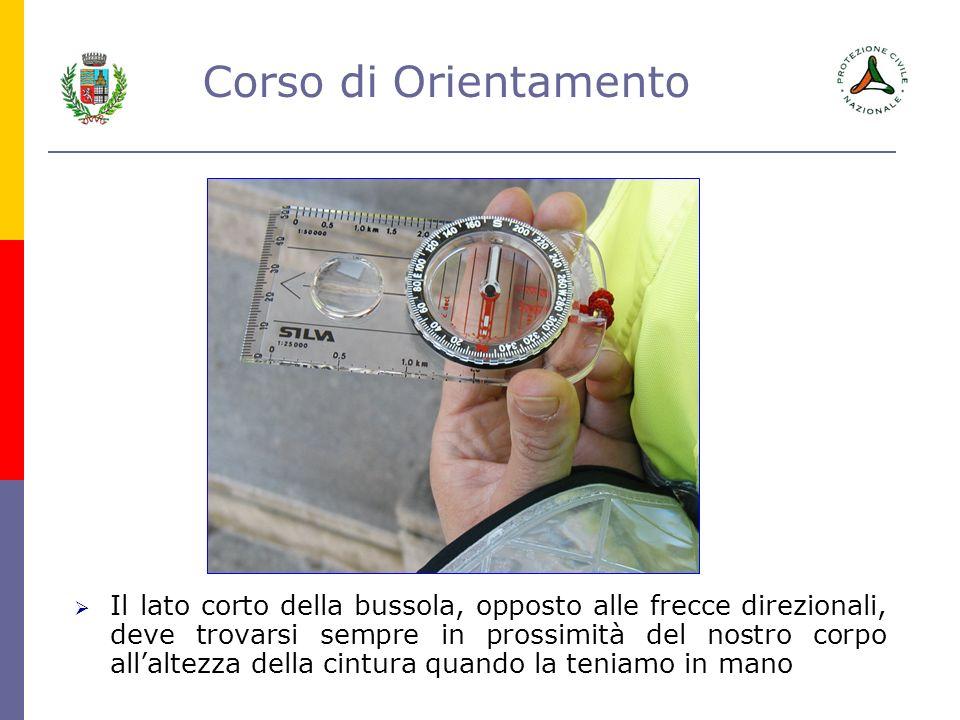 Corso di Orientamento La freccia direzionale indica sulla carta la direzione che si deve seguire per raggiungere il punto di arrivo.
