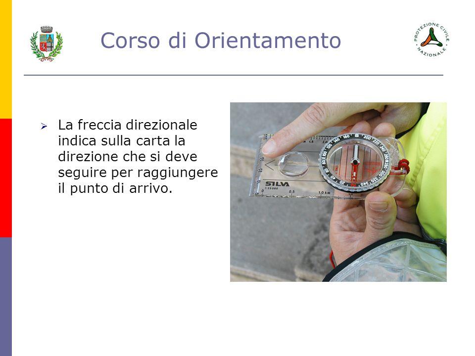 Corso di Orientamento Ruotando labitacolo ruota anche la graduazione da 0° a 360° incisa sul margine esterno.