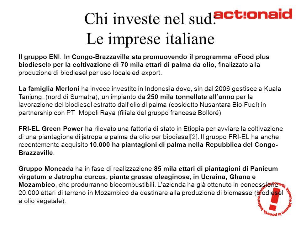 Chi investe nel sud: Le imprese italiane Il gruppo ENI.