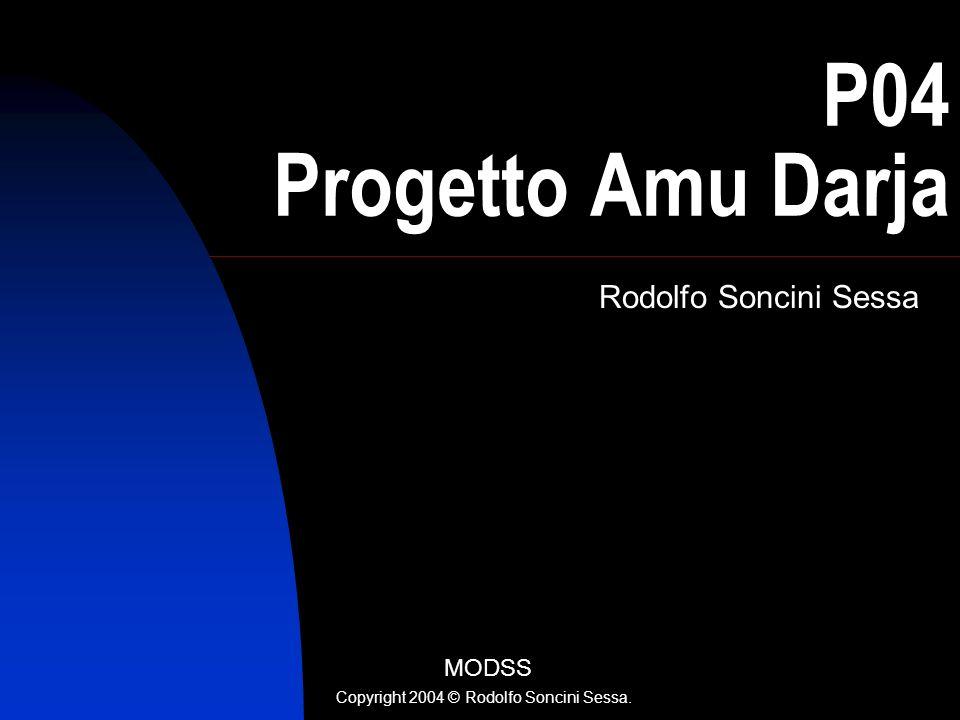 R. Soncini Sessa, MODSS, 2004 2 Uso di immagini satellitari nella regolazione dellAmu Darja