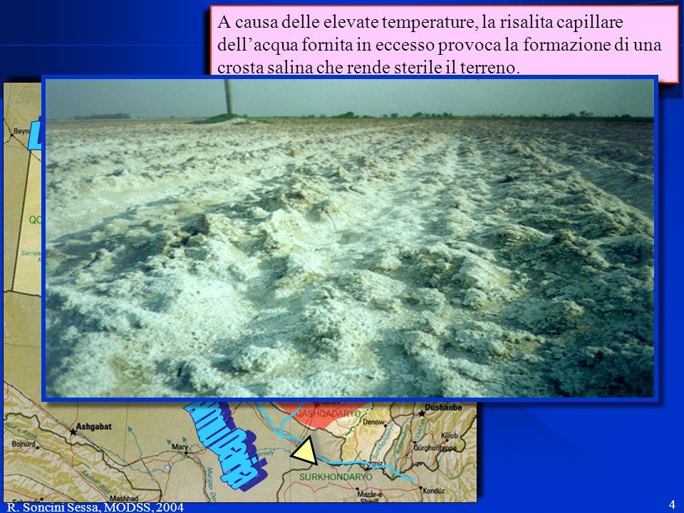 4 Le acque dellAmu Darja sono regolate da un serbatoio ed utilizzate per alimentare un esteso sistema di irrigazione a valle. Le acque dellAmu Darja s