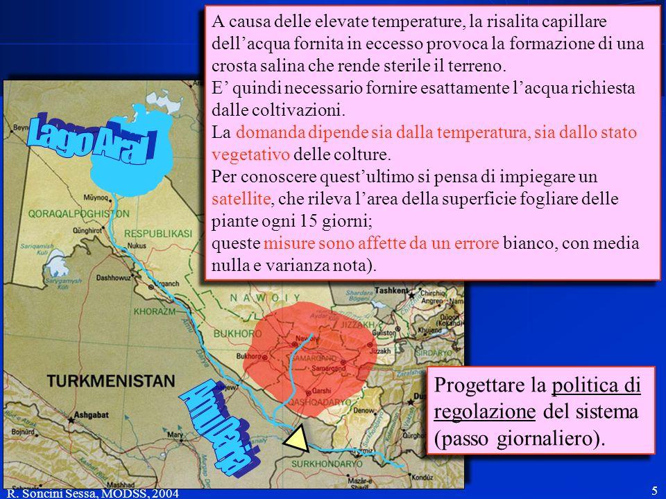 R. Soncini Sessa, MODSS, 2004 5 Le acque dellAmu Darja sono regolate da un serbatoio ed utilizzate per alimentare un esteso sistema di irrigazione a v