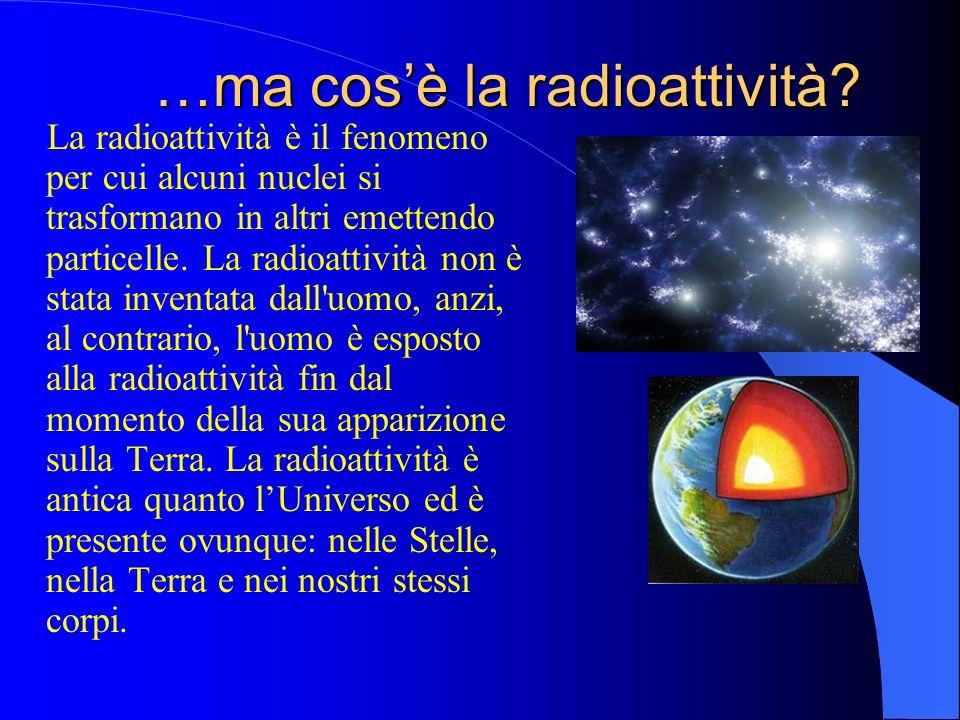 …ma cosè la radioattività.