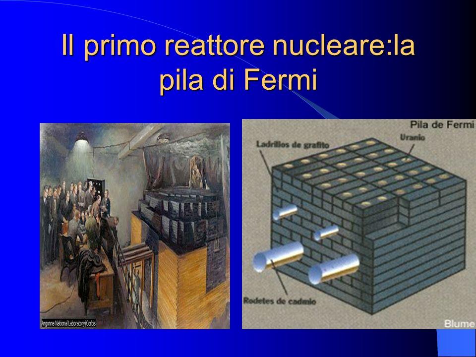 Il primo reattore nucleare:la pila di Fermi