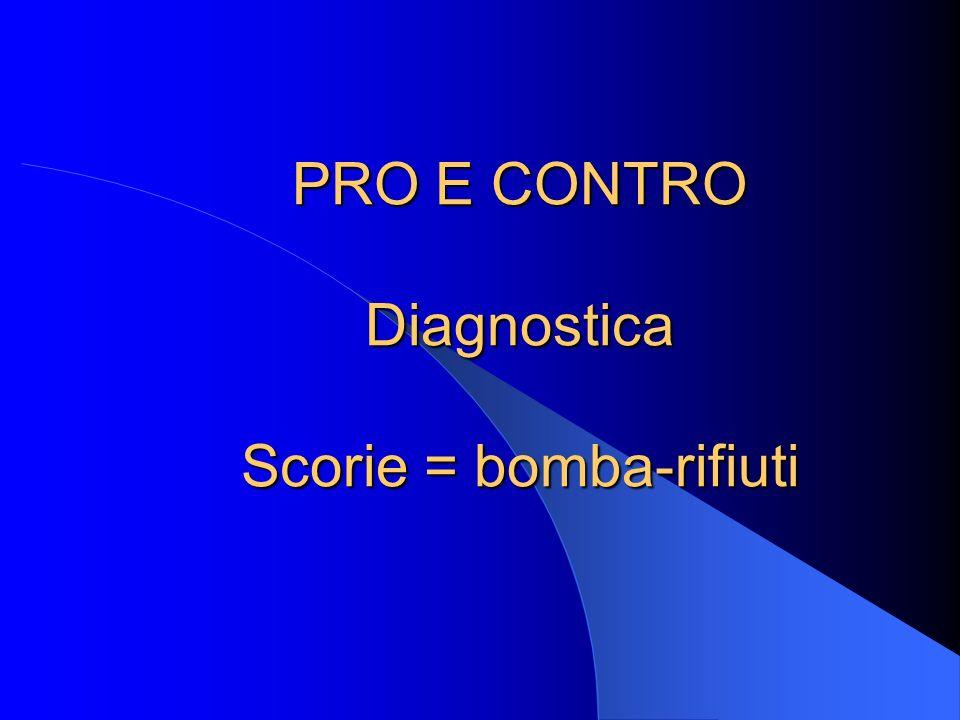 PRO E CONTRO Diagnostica Scorie = bomba-rifiuti