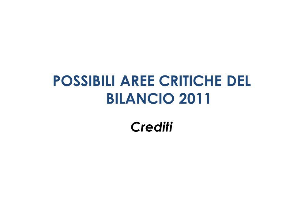 POSSIBILI AREE CRITICHE DEL BILANCIO 2011 Crediti