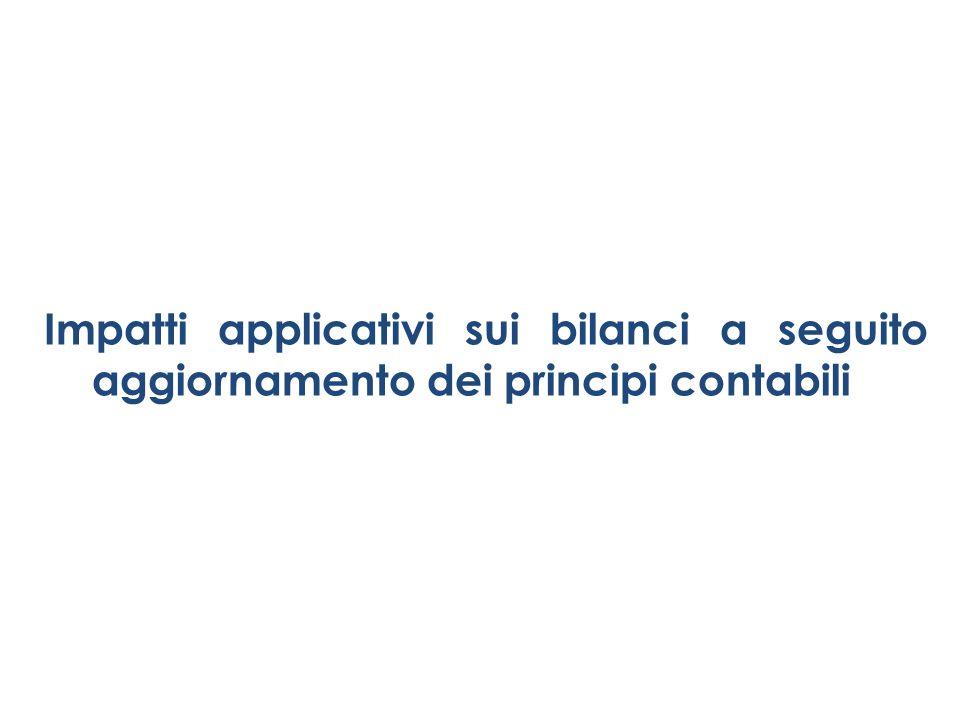 Impatti applicativi sui bilanci a seguito aggiornamento dei principi contabili