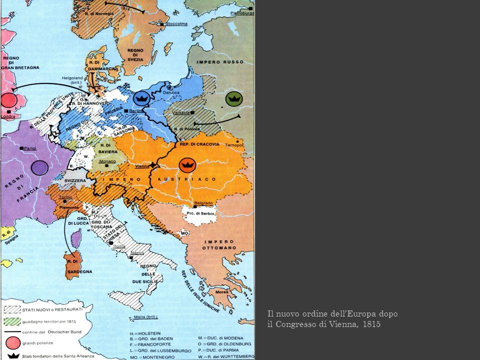 Il nuovo ordine dellEuropa dopo il Congresso di Vienna, 1815