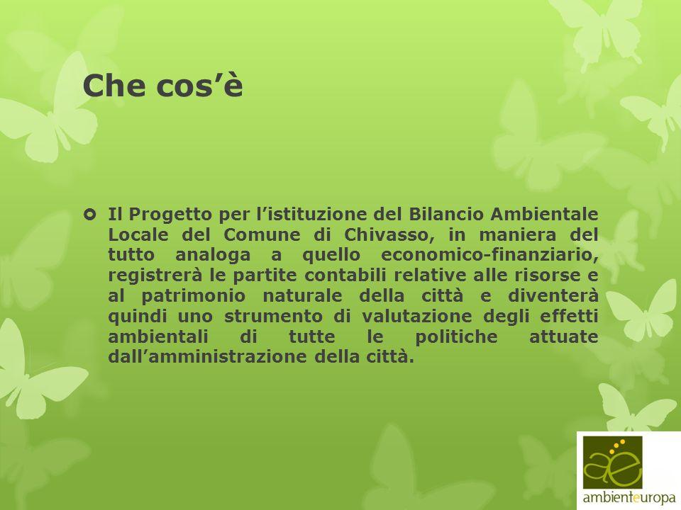 Che cosè Il Progetto per listituzione del Bilancio Ambientale Locale del Comune di Chivasso, in maniera del tutto analoga a quello economico-finanziar