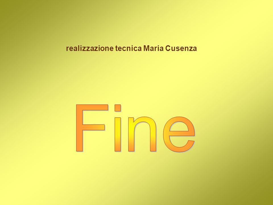 realizzazione tecnica Maria Cusenza