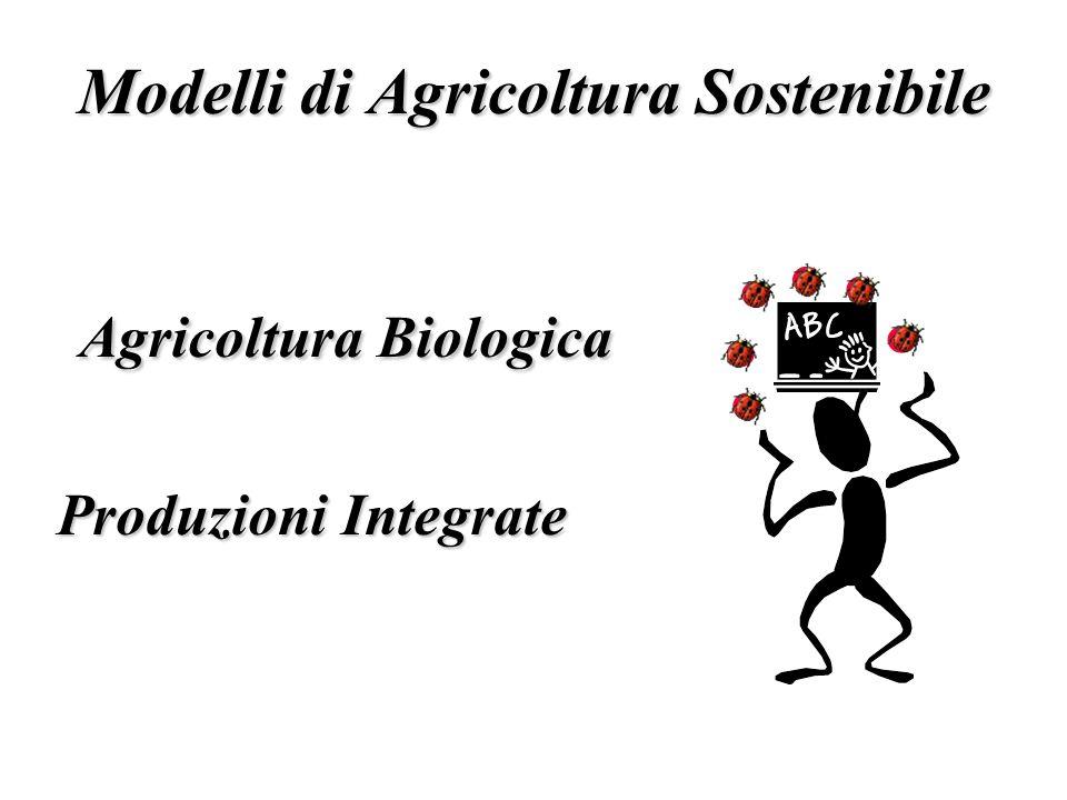 Modelli di Agricoltura Sostenibile Agricoltura Biologica Agricoltura Biologica Produzioni Integrate
