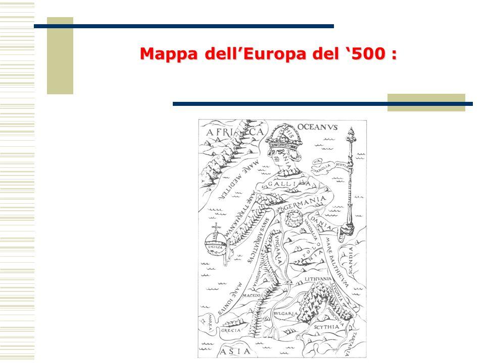 MappadellEuropa del 500 : Mappa dellEuropa del 500 :