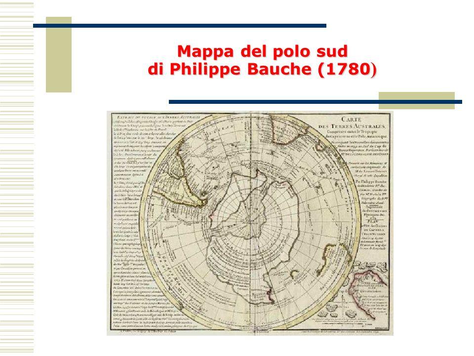 Mappa del polo sud di Philippe Bauche (1780 )
