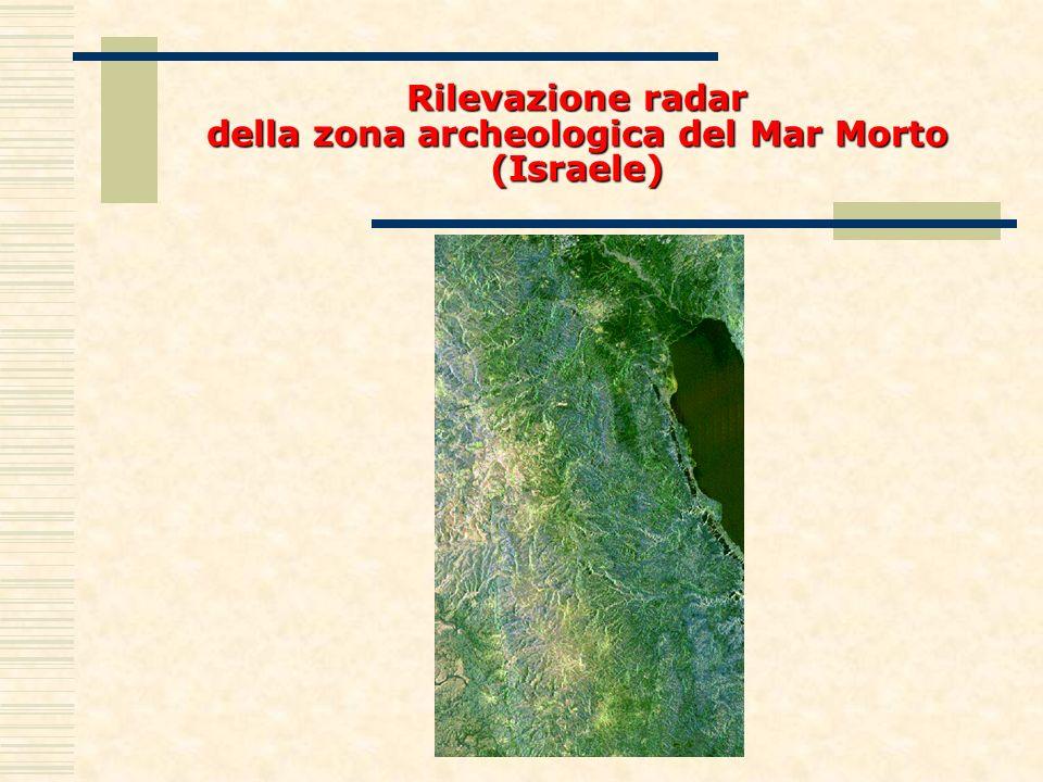 Rilevazione radar della zona archeologica del Mar Morto (Israele)