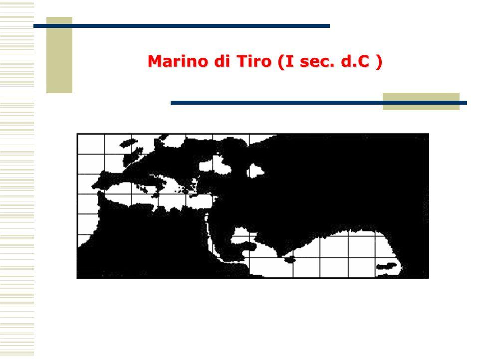 Marino di Tiro (I sec. d.C Marino di Tiro (I sec. d.C )