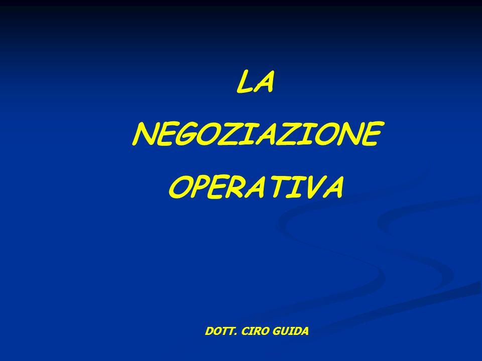 LA NEGOZIAZIONE OPERATIVA DOTT. CIRO GUIDA
