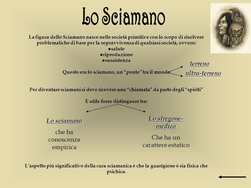 La figura dello Sciamano nasce nelle società primitive con lo scopo di risolvere problematiche di base per la sopravvivenza di qualsiasi società, ovve