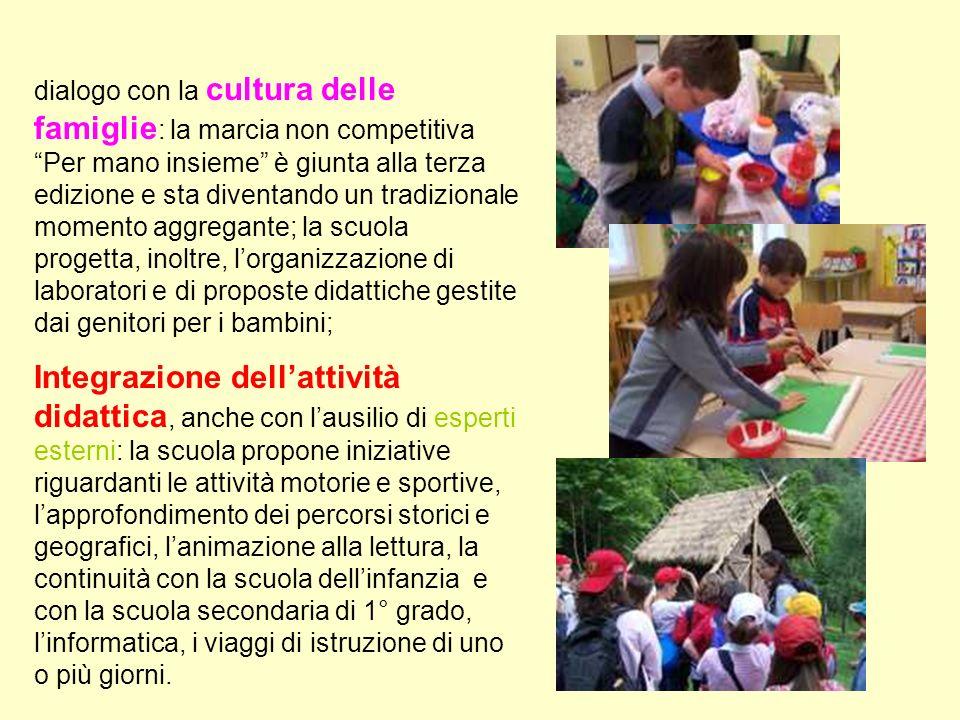dialogo con la cultura delle famiglie : la marcia non competitiva Per mano insieme è giunta alla terza edizione e sta diventando un tradizionale momen