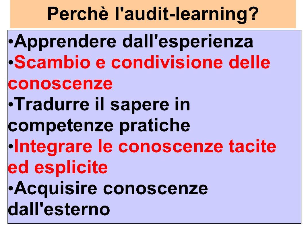 Perchè l audit-learning.