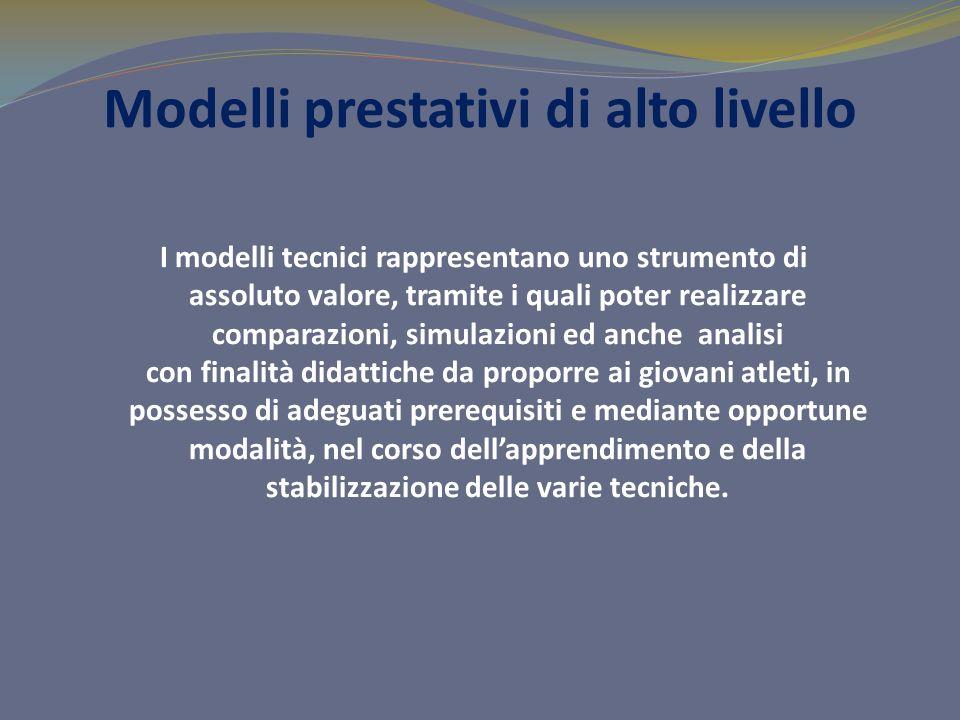 Modelli prestativi di alto livello I modelli tecnici rappresentano uno strumento di assoluto valore, tramite i quali poter realizzare comparazioni, si