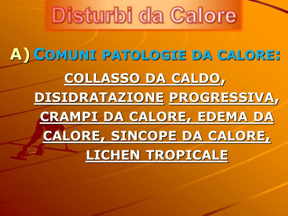 B) C OLPO DI SOLE C) C OLPO DI CALORE D) U STIONI