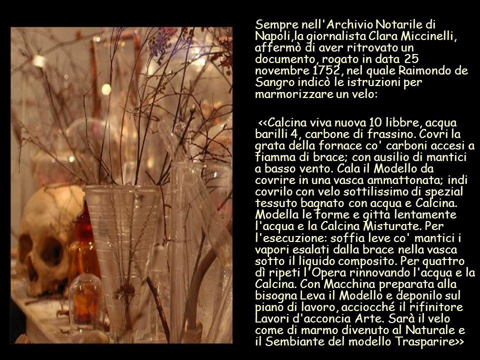 Sempre nell'Archivio Notarile di Napoli,la giornalista Clara Miccinelli, affermò di aver ritrovato un documento, rogato in data 25 novembre 1752, nel