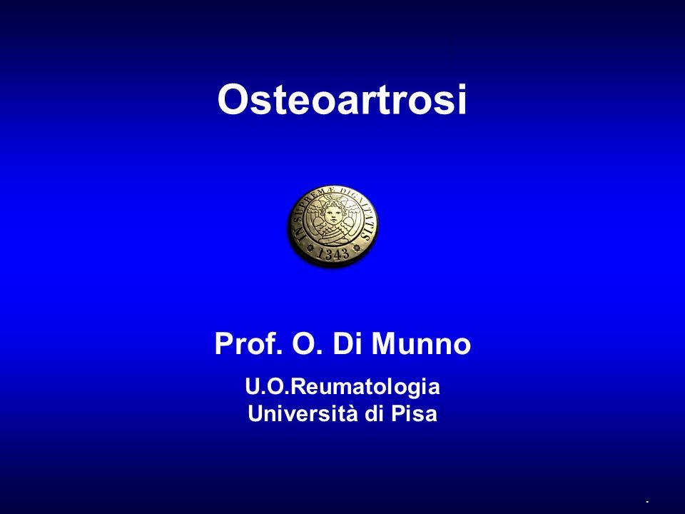 . Osteoartrosi Prof. O. Di Munno U.O.Reumatologia Università di Pisa
