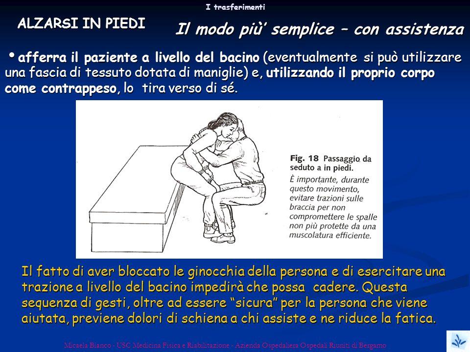 I trasferimenti Micaela Bianco - USC Medicina Fisica e Riabilitazione - Azienda Ospedaliera Ospedali Riuniti di Bergamo Il fatto di aver bloccato le g
