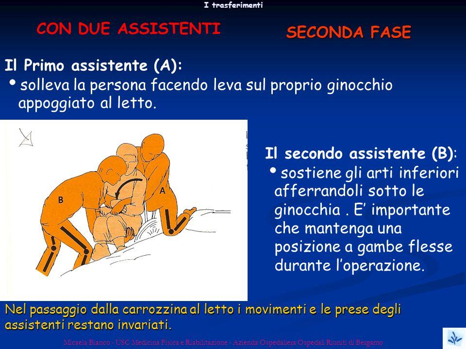 I trasferimenti Micaela Bianco - USC Medicina Fisica e Riabilitazione - Azienda Ospedaliera Ospedali Riuniti di Bergamo Il secondo assistente (B): sos