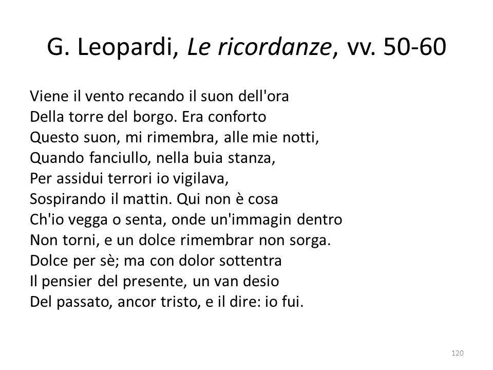 G.Leopardi, Le ricordanze, vv.