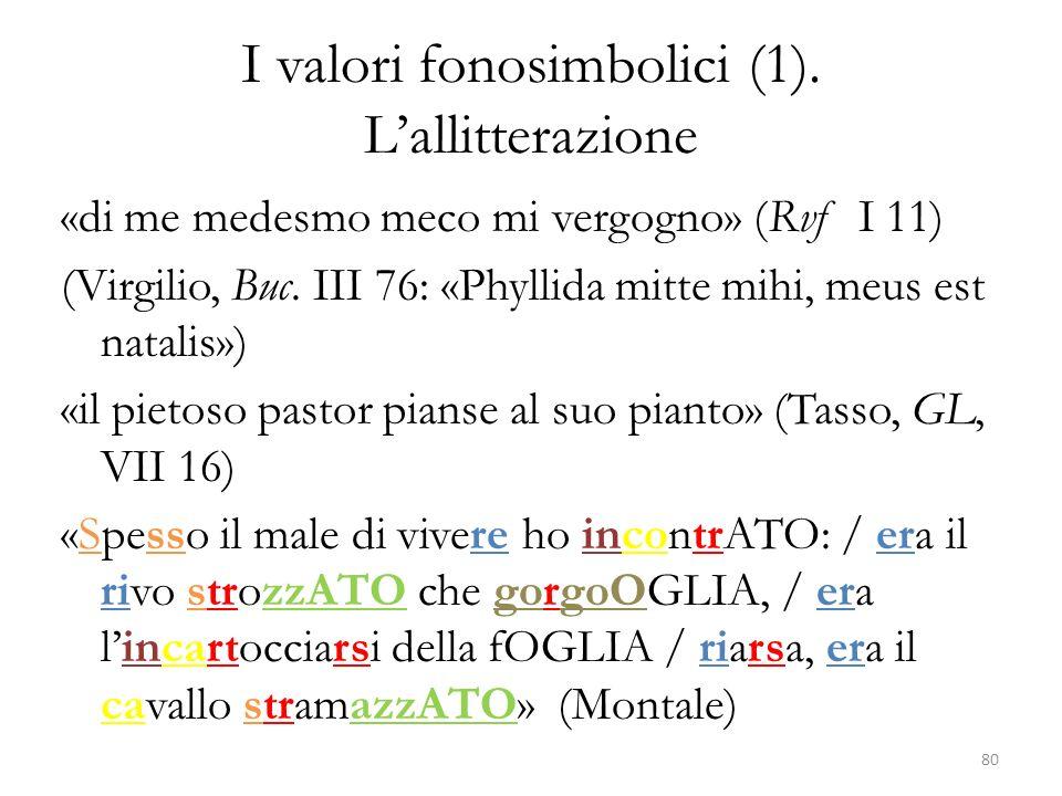 I valori fonosimbolici (1).