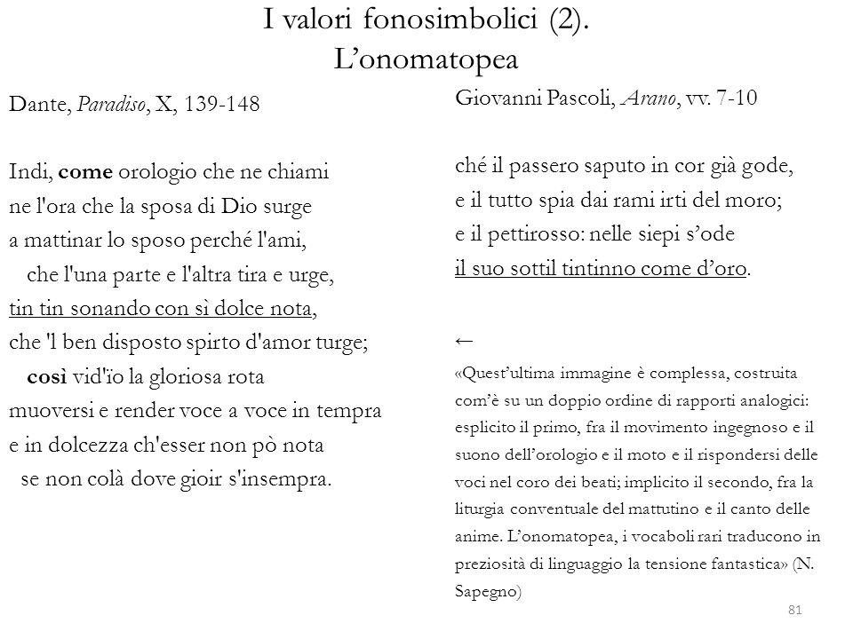 I valori fonosimbolici (2).