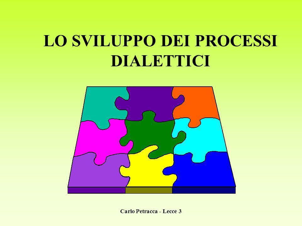 Carlo Petracca - Lecce 3 LO SVILUPPO DEI PROCESSI DIALETTICI