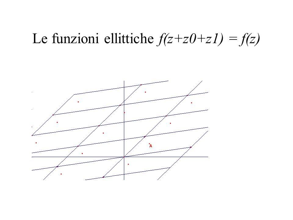 Le funzioni ellittiche f(z+z0+z1) = f(z)