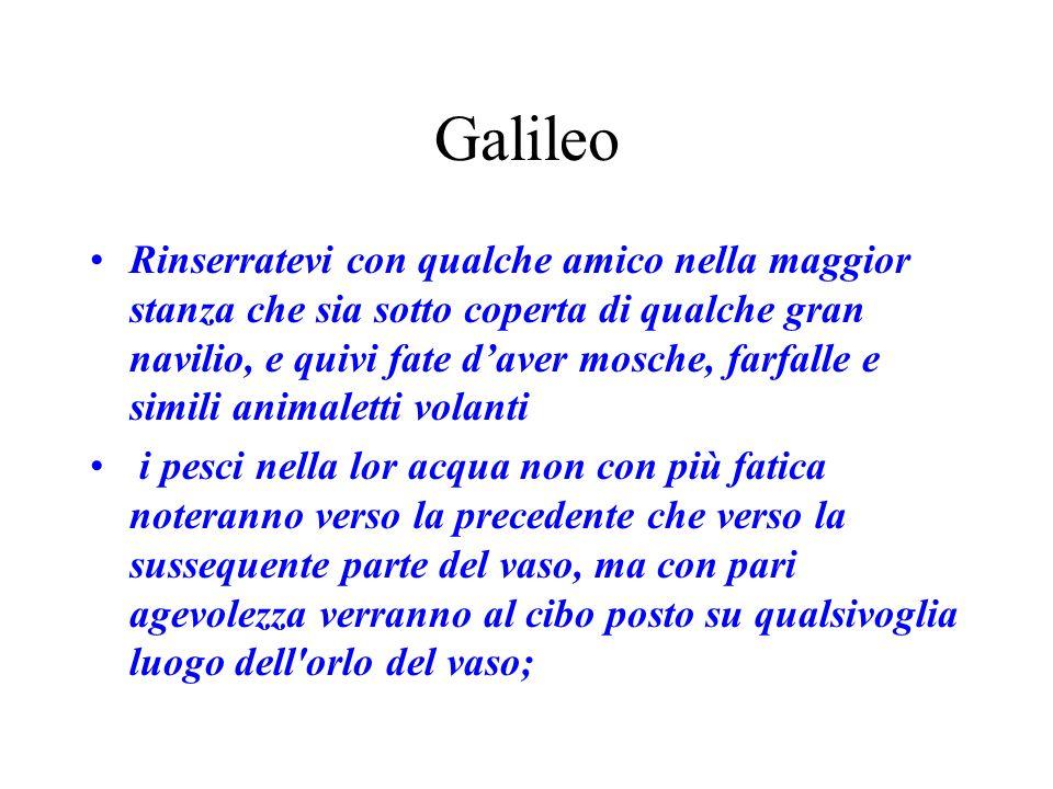 Galileo Rinserratevi con qualche amico nella maggior stanza che sia sotto coperta di qualche gran navilio, e quivi fate daver mosche, farfalle e simil