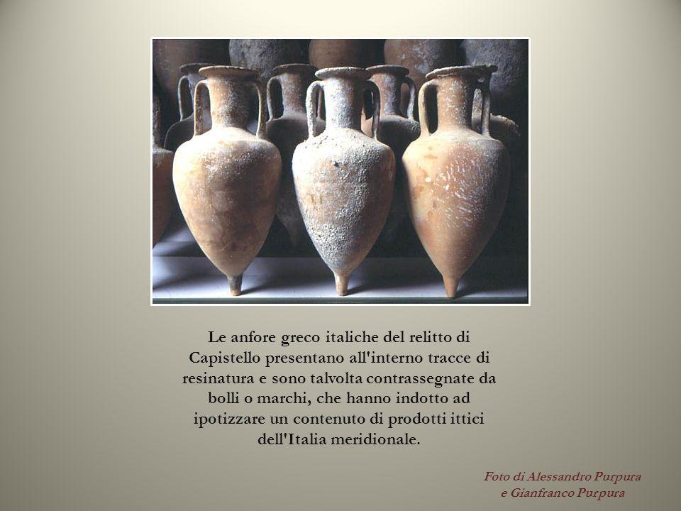 Foto di Alessandro Purpura e Gianfranco Purpura Le anfore greco italiche del relitto di Capistello presentano all'interno tracce di resinatura e sono