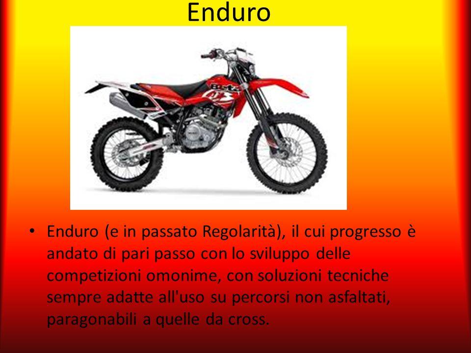 Enduro Enduro (e in passato Regolarità), il cui progresso è andato di pari passo con lo sviluppo delle competizioni omonime, con soluzioni tecniche se