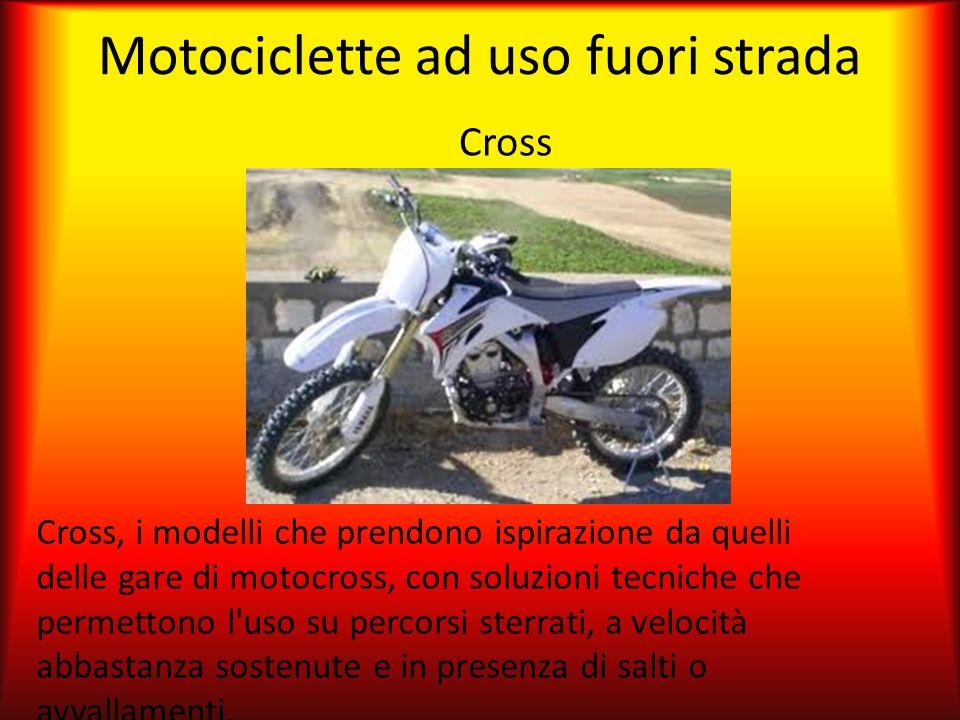 Motociclette ad uso fuori strada Cross Cross, i modelli che prendono ispirazione da quelli delle gare di motocross, con soluzioni tecniche che permett
