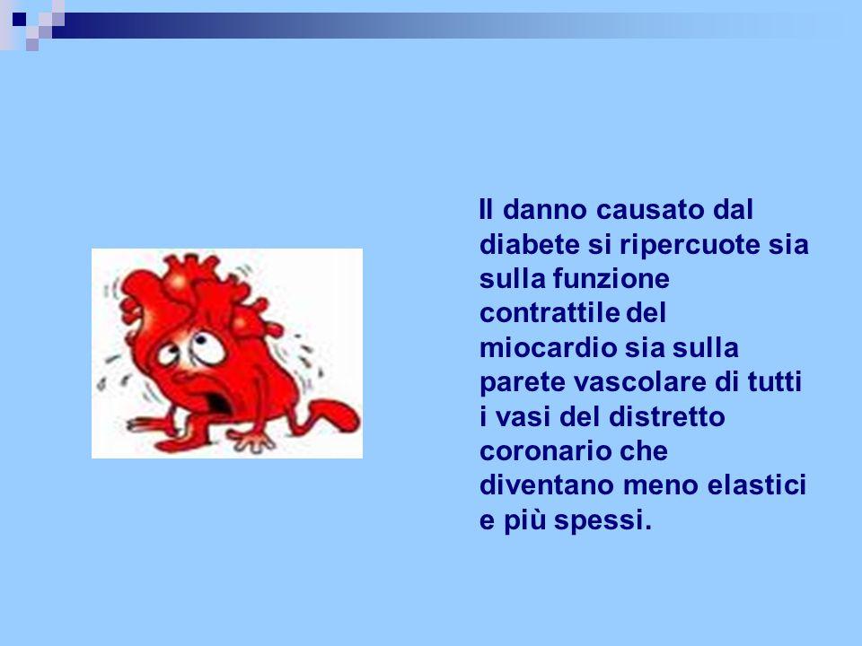 Il danno causato dal diabete si ripercuote sia sulla funzione contrattile del miocardio sia sulla parete vascolare di tutti i vasi del distretto coron