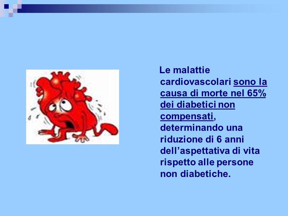 Le malattie cardiovascolari sono la causa di morte nel 65% dei diabetici non compensati, determinando una riduzione di 6 anni dellaspettativa di vita