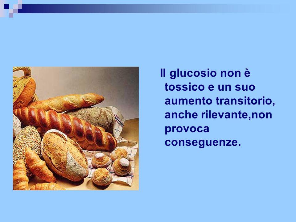 Il glucosio non è tossico e un suo aumento transitorio, anche rilevante,non provoca conseguenze.