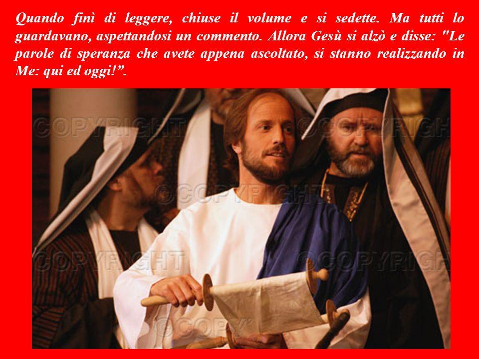 Un giorno Gesù fece ritorno a Nàzaret: la città della Galilèa dove era cresciuto.