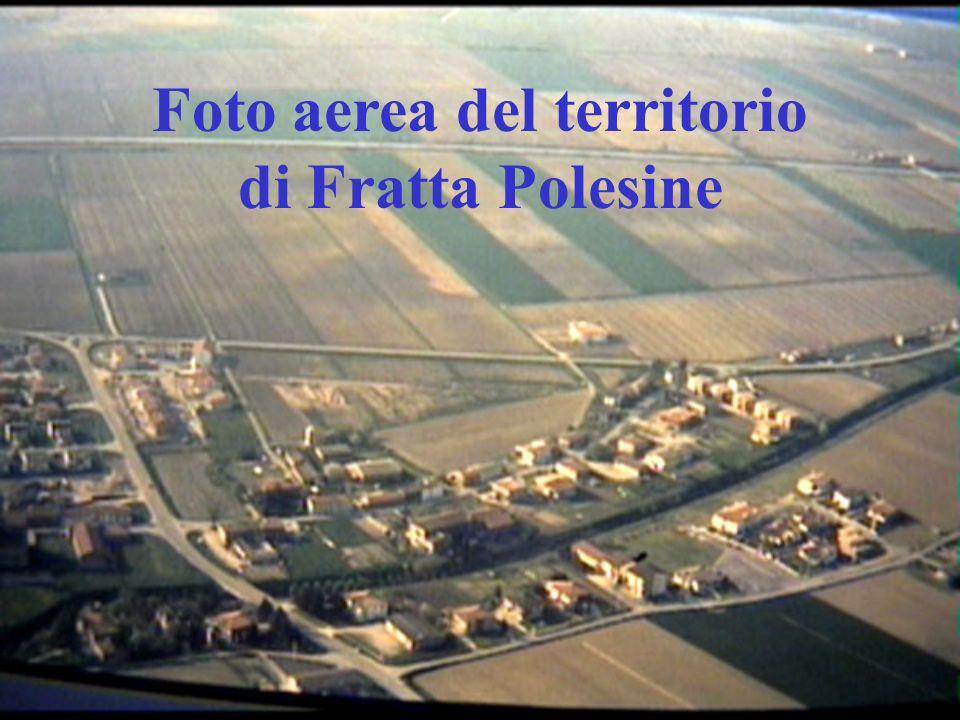 Foto aerea del territorio di Fratta Polesine